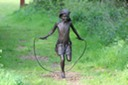 Annabel skipping sculpture