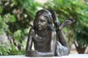 Olivia Bronze sculpture by brian alabaster