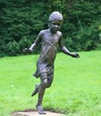 Bronze sculpture girl