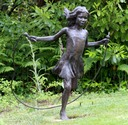 Skipping girl sculpture